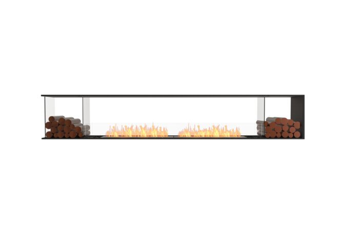 Flex 122PN.BX2 Peninsula - Ethanol / Black / Installed View by EcoSmart Fire