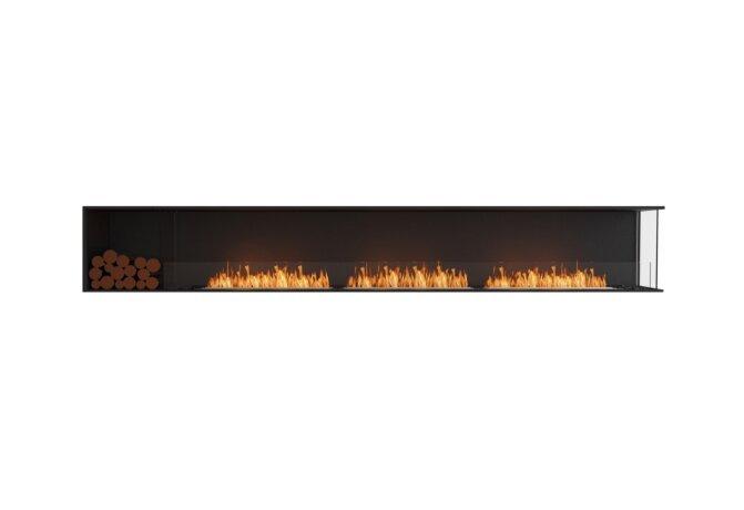 Flex 140RC.BXL Right Corner - Ethanol / Black / Installed View by EcoSmart Fire