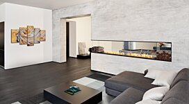 Flex 50PN.BXL Fireplace Insert - In-Situ Image by EcoSmart Fire
