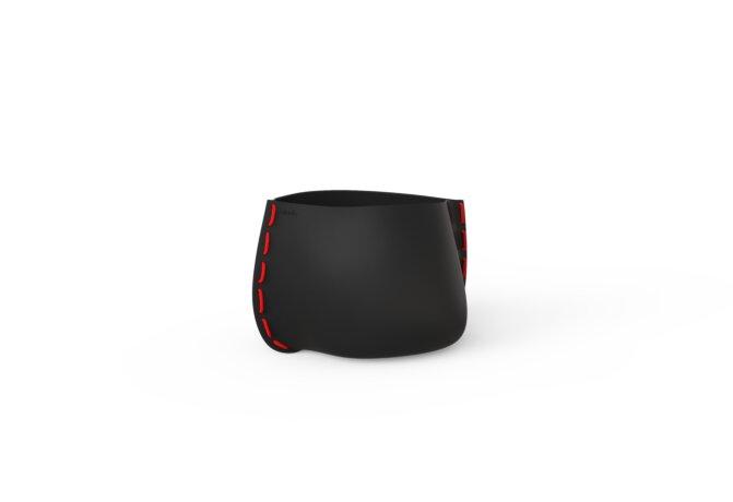 Stitch 25 Planter - Graphite / Red by Blinde Design