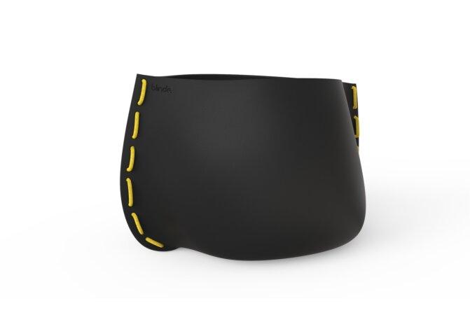 Stitch 125 Planter - Graphite / Yellow by Blinde Design