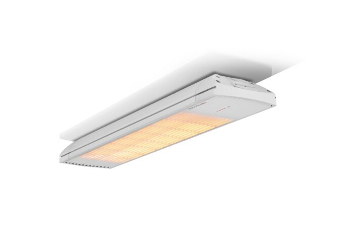 Spot 2800W Radiant Heater - White / White - Flame On by Heatscope
