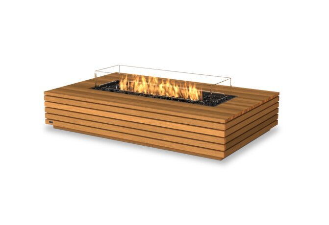 Wharf 65 Fire Pit - Gas LP/NG / Teak by EcoSmart Fire