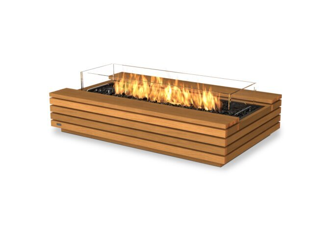 Cosmo 50 Fire Pit - Gas LP/NG / Teak by EcoSmart Fire