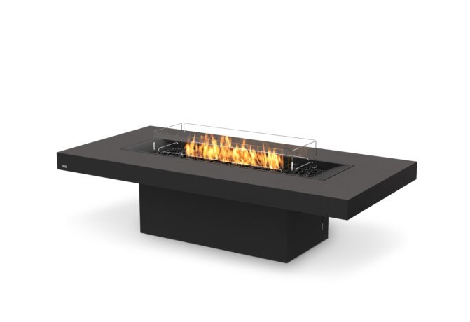 Gin 90 (Chat) Fire Pit - Gas LP/NG / Graphite by EcoSmart Fire