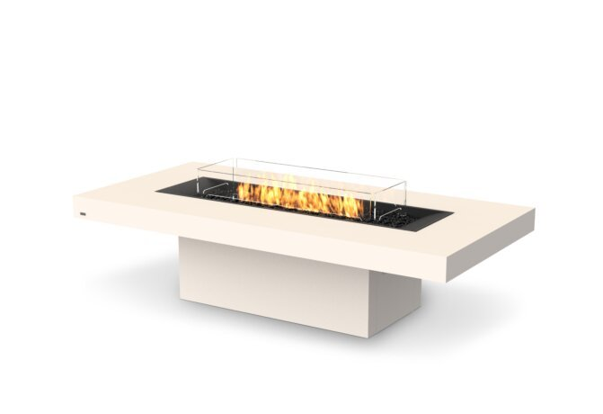 Gin 90 (Chat) Fire Pit - Gas LP/NG / Bone by EcoSmart Fire