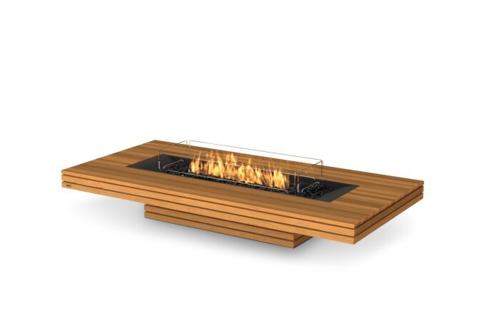 Gin 90 (Low) Fire Pit - Gas LP/NG / Teak by EcoSmart Fire