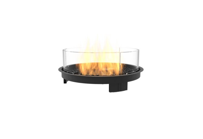 Round 20 Fireplace Insert - Gas LP/NG / Black by EcoSmart Fire