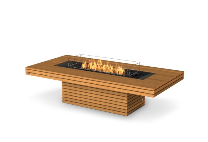 Gin 90 (Chat) Fire Pit - Gas LP/NG / Teak by EcoSmart Fire