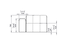 Connect L50 Modular Sofa - Technical Drawing / Front by Blinde Design