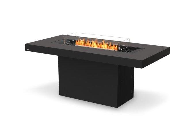 Gin 90 (Bar) Fire Pit - Ethanol - Black / Graphite / Optional Fire Screen by EcoSmart Fire