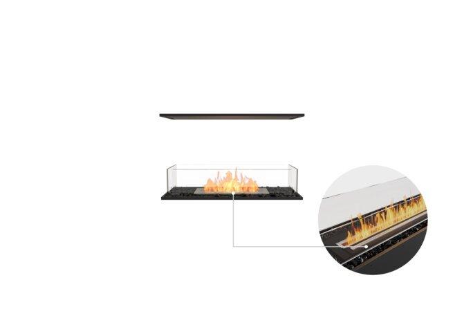 Flex 32IL Island - Ethanol - Black / Black / Installed View by EcoSmart Fire