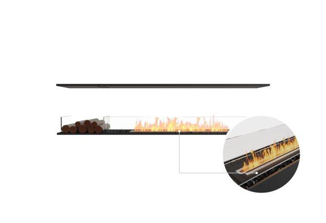 Flex 86IL.BX1 Island - Ethanol - Black / Black / Installed View by EcoSmart Fire