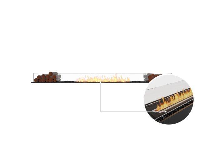 Flex 104BN.BX2 Bench - Ethanol - Black / Black / Installed View by EcoSmart Fire