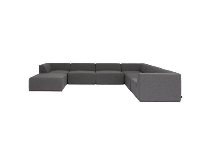 Relax Modular 7 U-Sofa Chaise Sectional Modular Sofa - Flanelle by Blinde Design