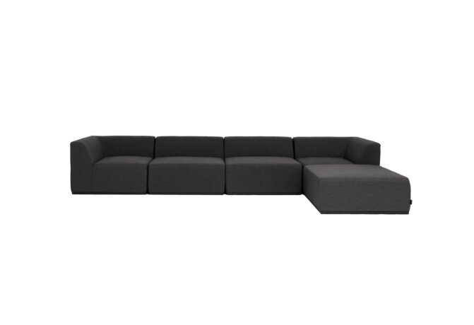 Relax Modular 5 Sofa Chaise Modular Sofa - Sooty by Blinde Design