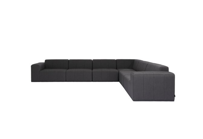 Connect Modular 6 L-Sectional Modular Sofa - Sooty by Blinde Design