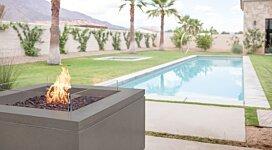 Quad v2 Fire Pit Table - In-Situ Image by Brown Jordan Fires