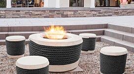 Loop v2 [A] Fire Tables Outlet - In-Situ Image by Brown Jordan Fires