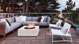 Solstice Fire Pit - In-Situ Image by Brown Jordan Fires