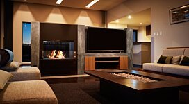 Firebox 800DB v2 Fireplace Inserts Outlet - In-Situ Image by EcoSmart Fire