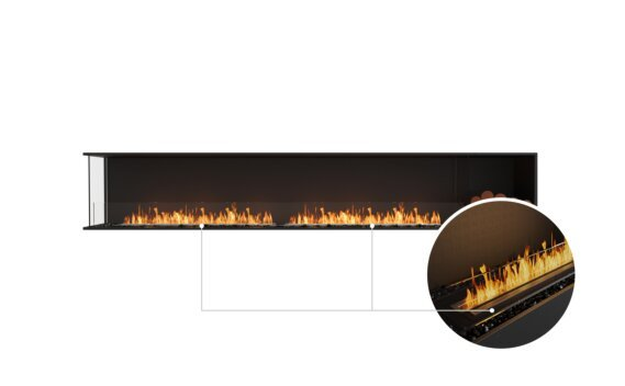 Flex 122LC.BXR Left Corner - Ethanol - Black / Black / Installed View by EcoSmart Fire