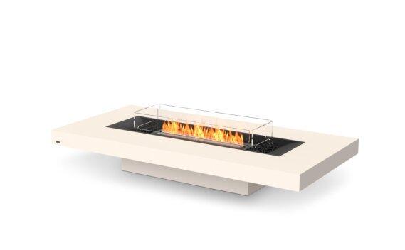 Gin 90 (Low) Fire Pit - Ethanol - Black / Bone / Optional Fire Screen by EcoSmart Fire