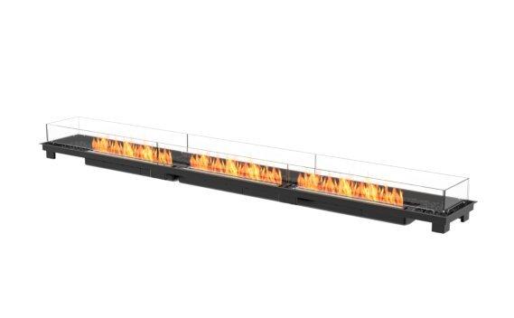 Linear 130 Fireplace Insert - Ethanol - Black / Black by EcoSmart Fire